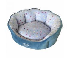 Nobby Katzenbett oval Spot türkis/hellblau, Maße: 65 x 57 x 22 cm