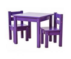 HOPPEKIDS MADS Basic Kinder Sitzgruppe 3-Teilig Classic Purple 36-1025-86