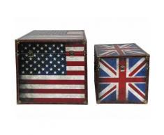 BHP BEST HOME PRODUCTS Truhe US+UK Flagge 2er Set Vintage Look B990096-1