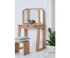 GMK Home & Living Schminktisch braun, », aus massiver Eiche, Breite 90 cm«, FSC®-zertifiziert, Guido Maria Kretschmer Home&Living
