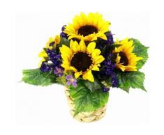 Kunstpflanze lila, B/T/H, »Arrangement Sonnenblume in Wasserhyazinthentopf«, yourhome