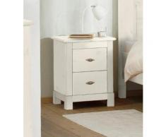 Home affaire Nachttisch aus massiver Kiefer weiß, weiss, »Rauna«, mit Schubkästen, FSC®-zertifiziert