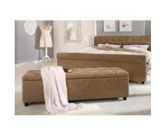 Home affaire Polsterbank in 5 verschiedenen Farben und 2 Größen, Sitzhöhe 41,5 cm »Goronna« braun, 140cm, FSC®-zertifiziert