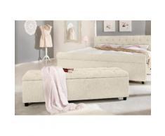 Home affaire Polsterbank in 5 verschiedenen Farben und 2 Größen, Sitzhöhe 41,5 cm »Goronna« beige, 140cm, FSC®-zertifiziert