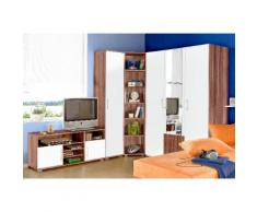 Jugendzimmer-Set braun, mit 3-trg. Kleiderschrank, yourhome