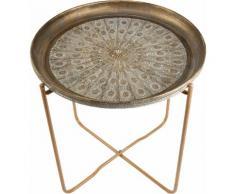 Home affaire Tablett-Tisch gold