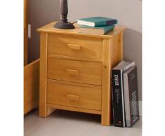 Home affaire Nachttisch gelb, »Devi«, mit Schubkästen, FSC®-zertifiziert