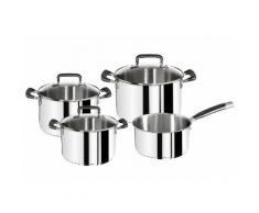 Topf-Set »Gourmet Series« silber, Ø16, 16, 20, 24cm, Hochglanz, Tefal