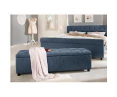 Home affaire Polsterbank in 5 verschiedenen Farben und 2 Größen, Sitzhöhe 41,5 cm »Goronna« blau, 140cm, FSC®-zertifiziert