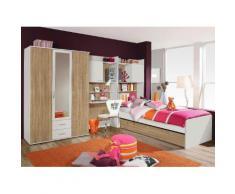 PACK`S Jugendzimmer-Set beige, Mit 3-trg. Kleiderschrank, rauch