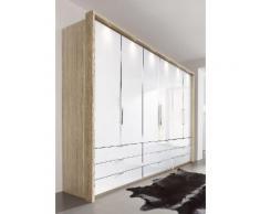 Panorama-Falttürenschrank in 3 Breiten beige, Breite 300cm, »Loft«, mit Schubkästen, WIEMANN