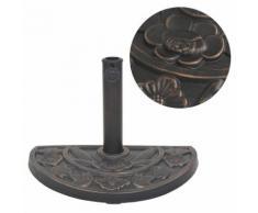 vidaXL Sonnenschirmständer Harz Halbrund Bronze 9 kg