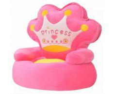 vidaXL Plüsch-Kindersessel Prinzessin Rosa