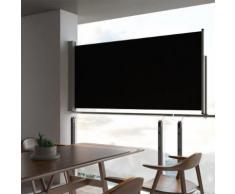 vidaXL Ausziehbare Seitenmarkise 120 x 300 cm Schwarz