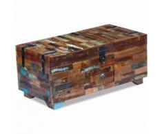 vidaXL Couchtisch Truhe recyceltes Massivholz 80x40x35 cm