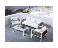 Beliani Lounge Set Aluminium weiss 5-Sitzer BORELLO