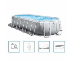 Intex Swimmingpool-Set Prism Frame Oval 610 x 305 x 122 cm 26798GN