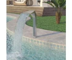 vidaXL Pool-Brunnen Edelstahl 50 x 30 x 90 cm Silber