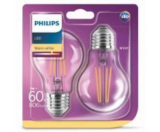 Philips LED Lampen 2 Stk. Classic 7 W 806 Lumen 929001387371