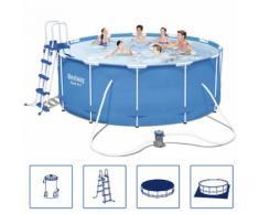 Bestway Stahl Pro Schwimmbad Set Stahlrahmen Rund 366x122 cm 56420
