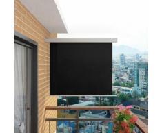 vidaXL Balkon-Seitenmarkise Multifunktional 150×200 cm Schwarz