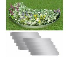 vidaXL Flexible Rasenkante 10-er Set 100x15 cm Verzinkter Stahl