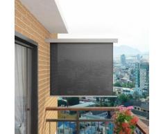 vidaXL Balkon-Seitenmarkise Multifunktional 150×200 cm Grau