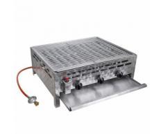 vidaXL Gastro-Gasgrill BBQ Bräter 3 Brenner Edelstahl