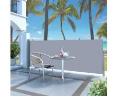 vidaXL Ausziehbare Seitenmarkise 140 x 300 cm Grau
