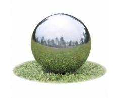 vidaXL Garten-Springbrunnen Sphere mit LEDs Edelstahl 30 cm