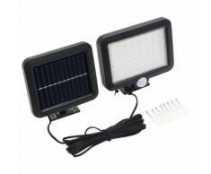 vidaXL Solarlampe mit Bewegungsmelder LED-Leuchtmittel Weiß