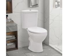vidaXL Stand-WC mit Spülkasten und Soft-Close-Sitz Keramik Weiß