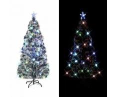 vidaXL Künstlicher Weihnachtsbaum mit Ständer/LED 180 cm 220 Zweige