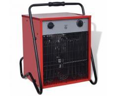 vidaXL Mobiler Heizlüfter Bauheizer Elektroheizung 15 kW 400 m³/h