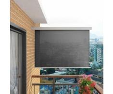 vidaXL Balkon-Seitenmarkise Multifunktional 180×200 cm Grau
