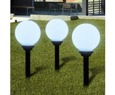 vidaXL Außenlampe Solarkugel Solarlampe LED Kugellampe 3tlg.