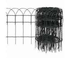 vidaXL Beetzaun Pulverbeschichtetes Eisen 10×0,4 m