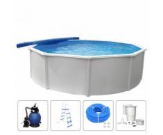 KWAD Schwimmbad-Set Steely Deluxe Rund 3,6 x 1,2 m