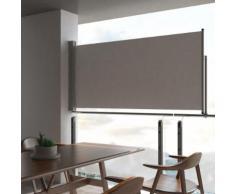 vidaXL Ausziehbare Seitenmarkise 120 x 300 cm Grau