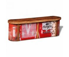 vidaXL Truhe mit Sitzbank aus wiederverwendetem Holz
