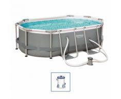 Bestway Power Steel Swimmingpool-Set Oval 300×200×84 cm 56617