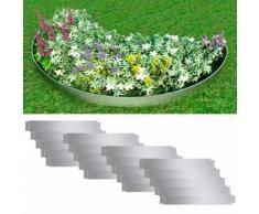 vidaXL Flexible Rasenkante 20-er Set 100x15 cm Verzinkter Stahl