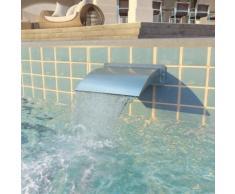 vidaXL Pool-Brunnen Edelstahl 30 x 9 x 26 cm Silber