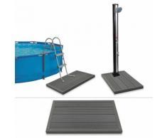 vidaXL Bodenelement für Solardusche Poolleiter WPC