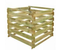 vidaXL Kompostbehälter Latten 0,54 m3 Quadratisch Holz