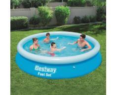 Bestway Fast Set Aufblasbarer Swimmingpool Rund 366x76 cm 57273