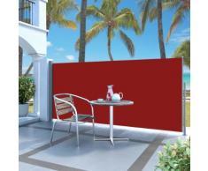 vidaXL Ausziehbare Seitenmarkise 120 x 300 cm Rot