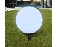 vidaXL Außenlampe Solarkugel Solarlampe LED Gartenkugel 1 tlg.