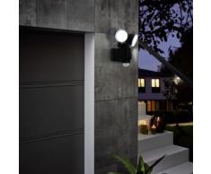 EGLO Sensor-LED-Außenwandleuchte Casabas 2×3,75 W Schwarz