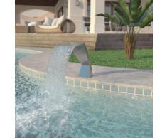 vidaXL Pool-Brunnen Edelstahl 64 x 30 x 52 cm Silber